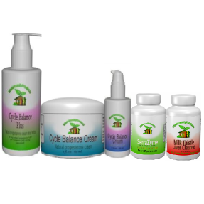 WFP Endometriosis Pack-endometriosis pack, serrapeptase, serrazyme, super immune booster, Cycle Balance natural progesterone cream